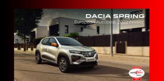 Dacia Spring 2022 Auto Best finlisti oldu