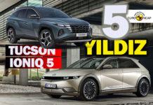 Hyundai TUCSON ve IONIQ 5 Euro NCAP testinden beş yıldız aldı